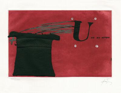 Antoni Tàpies, 'U no és ningú', 1979