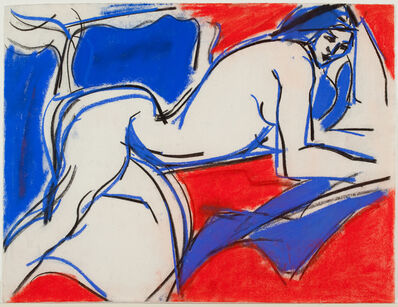 Fay Lansner, 'Red and Blue Figure', 1965
