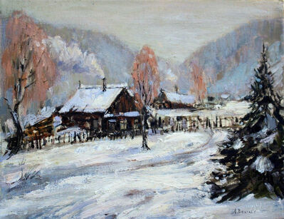 Alexander Belyaev, 'Village in Snow', 2019