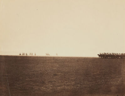 Gustave Le Gray, 'Cavalry Maneuvres, Camp de Châlons', 1857