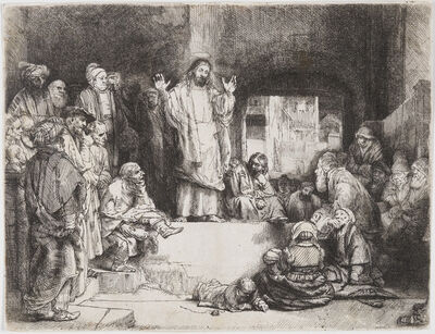 Rembrandt van Rijn, 'Christ Preaching (La Petite Tombe)', ca. 1652