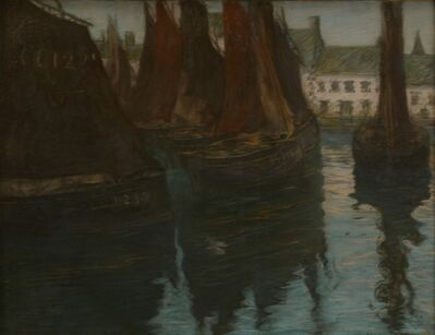 Charles Fromuth, 'Concarneau, Sardine Boats', 1895