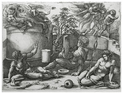 Amico Aspertini, 'EXPULSION OF ADAM AND EVE FROM PARADISE', ca. 1545
