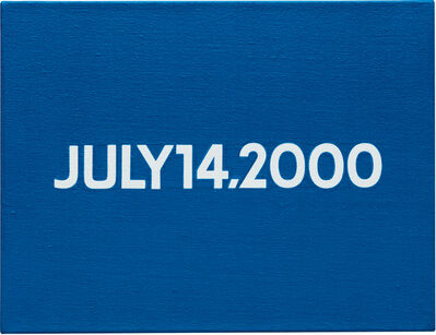 On Kawara, 'Friday July 14, 2000 (Today series no. 26)', 2000