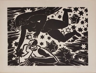 Frans Masereel, 'L'ange noir', 1950