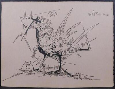 Wifredo Lam, 'Bird Carrying Small Figures', 1970