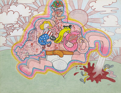 Peter Saul, 'Red Hitler, 1966', 1966