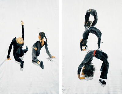Yu Hong 喻红, 'Figures (+ Ground-Satin; 2 works from Gymnastic Series)', 2005
