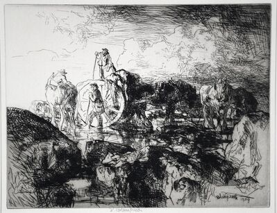 Edmund Blampied, 'A Jersey Vraic Cart', 1939