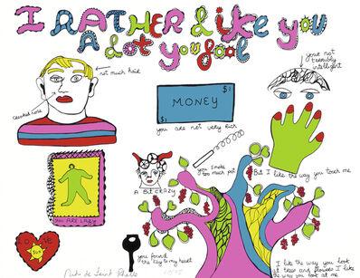 Niki de Saint Phalle, 'I rather like you a lot you fool', 1970