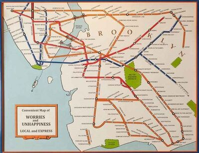 Jerry Meyer, 'Convenient Map of Worries and Unhappiness, Local and Express', 2016
