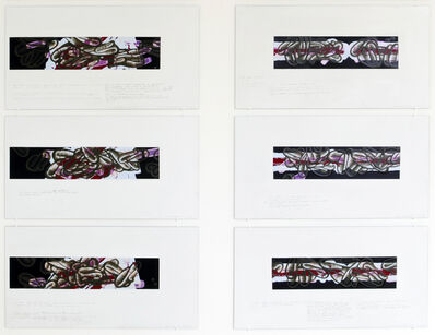 David Reed, 'For ainting #642 (F canvases)', 2014