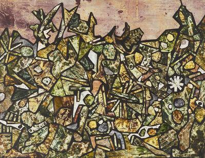 Jean Dubuffet, 'Jardin de souffle cor avril 1956', 1956
