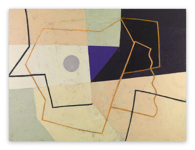 Jeremy Annear, 'Linear Construct (Violet Triangle) (Abstract painting)', 2011