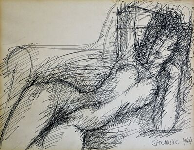 Marcel Gromaire, ''Nu alangui' Drawing, by Marcel Gromaire', 1944