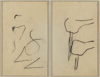 Paul Gauguin, 'Scribbles; Two Shapes [verso]', 1884-1888