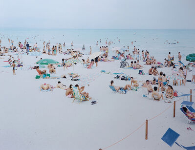 Massimo Vitali, 'Cagliari Blue rectangle, dal portfolio 'Landscape with figures'', 2007