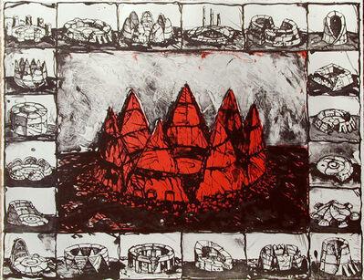 MOSCOVICI Ariel, 'Arène rouge', 2000