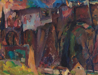 David Bomberg, 'The Moor's Bridge, Ronda', 1935