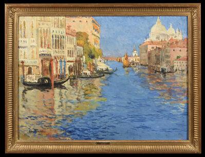 Louis Abel-Truchet, 'Venise, la Pointe de la Douane Vue du Grand Canal', 1900
