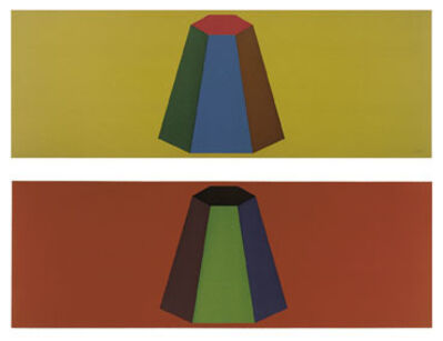 Sol LeWitt, 'Flat Top Pyramid with Colors Superimposed', 1988