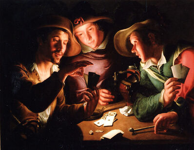 Peter Wtewael, 'Card players', 1620s