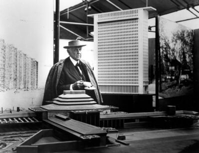 Pedro E. Guerrero, 'Frank Lloyd Wright, Tea Break #2, Guggenheim Pavilion, NYC ', 1953