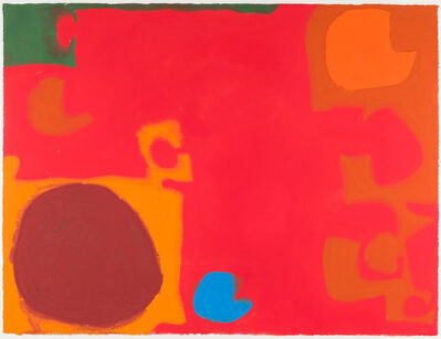 Patrick Heron, 'Yellows and Browns Interlocking with Soft Cadmium (Blue Flash)', 1968