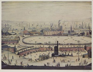 Laurence Stephen Lowry, 'The Pond', 1974