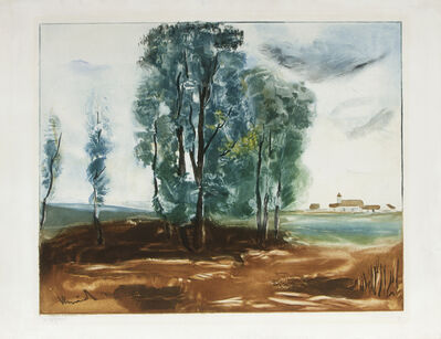 Maurice de Vlaminck, 'Le Village d'Hérouville after de Vlaminck, by Villon', ca. 1924