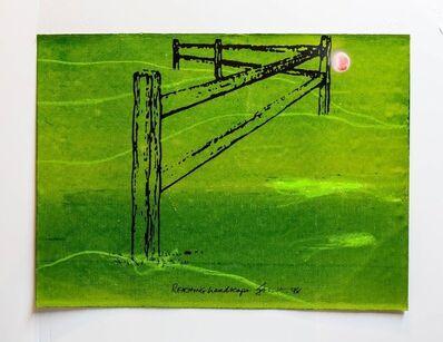 "Iain Baxter&, 'Iain Baxter ""Reaching Landscape"" Conceptual Monoprint Painting', 20th Century"