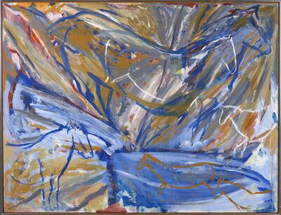 Elaine de Kooning, 'Six Horses: Blue Wall', 1984