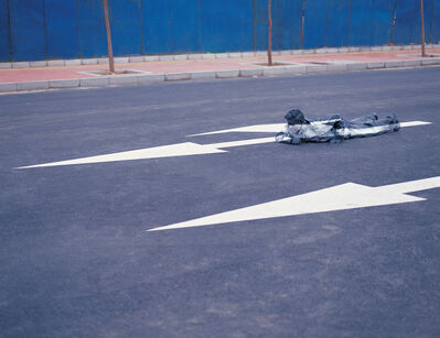 Liu Bolin, 'Hiding in the city - No.27 Creeping Forward', 2006