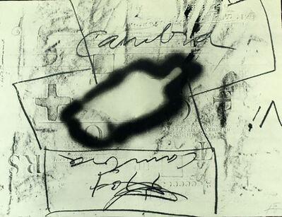 Antoni Tàpies, 'Variations Thème Musical', 1987