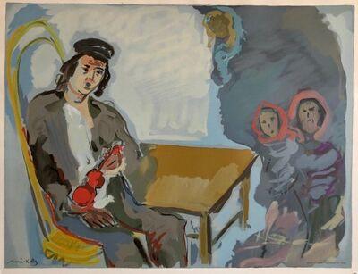Mané-Katz, 'Judaica Jewish Shtetl Wedding Klezmer Musician Lithograph Mourlot Paris', 1960-1969