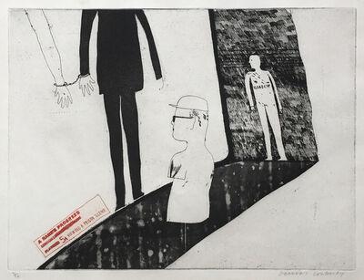 David Hockney, 'Viewing a Prison Scene', 1961