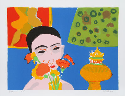 John Grillo, 'Woman with Flowers', 1980