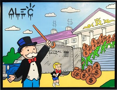 Alec Monopoly, 'Monopoly Richie Loading Out Bank', 2019