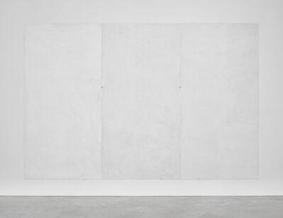 Emmanuelle Quertain, 'Mur blanc RAL ( + ................ ) en trois volets', 2018