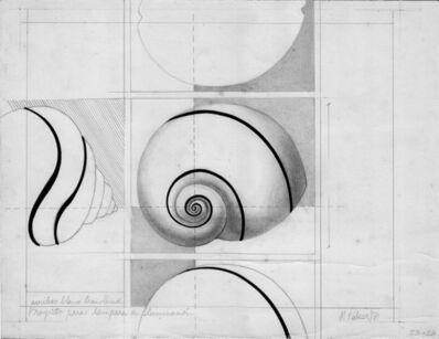 Margarita Paksa, 'Caracol, proyectos para lámpara de iluminación ', 1971