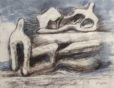 Henry Moore, 'Two Reclining Figures', 1981
