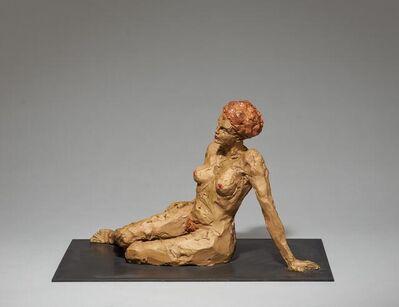 Stephan Balkenhol, 'Mixed Lot of Two Sculptures: a) Kniender Mann and b) Liegende Frau'