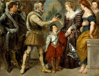 Eugène Delacroix, 'Henri IV conferring the Regency on Marie de' Medici (after Rubens) ', 1825-1830