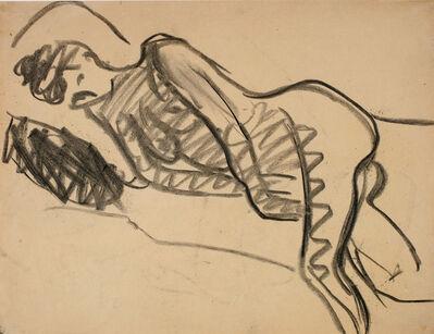 Ernst Ludwig Kirchner, 'Liegender Akt', 1908