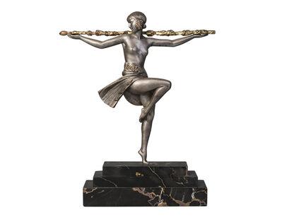 Pierre Le Faguays, ''Dancer with Thyrsus', a cold-painted bronze figure', c.1930