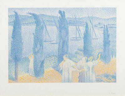 Henri-Edmond Cross, 'Le Promenade (Les Cypresses)', 1897