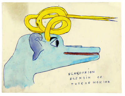 Henry Darger, 'Blandanion Blengin or Tuskorhorian', 1910-1970
