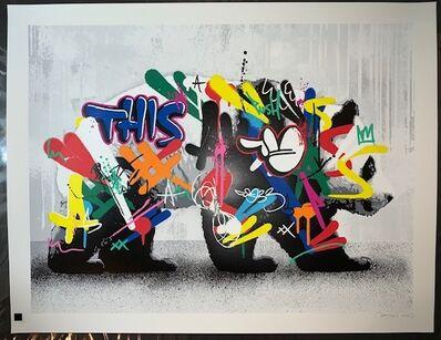 "Martin Whatson, '""The Panda"" Martin Whatson Main Graffiti Edition Hand Sprayed Limited Edition Graffiti Prints', 2020"