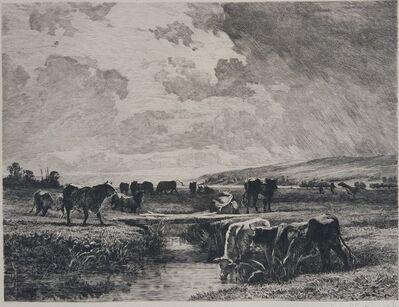 Constant Troyon, 'Valle de la Touque Normandie, Sevres', 1883