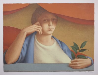 George Tooker, 'Woman With A Sprig Of Laurel', 1992